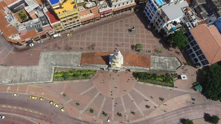 Vista aérea de la Torre del Reloj de Cartagena