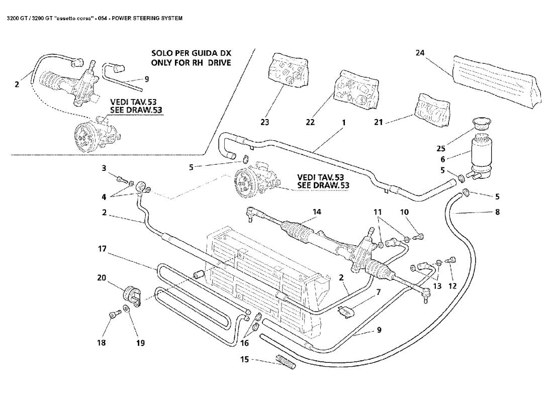 Power Steering System Engine Diagram