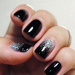 nail art la manucure noire
