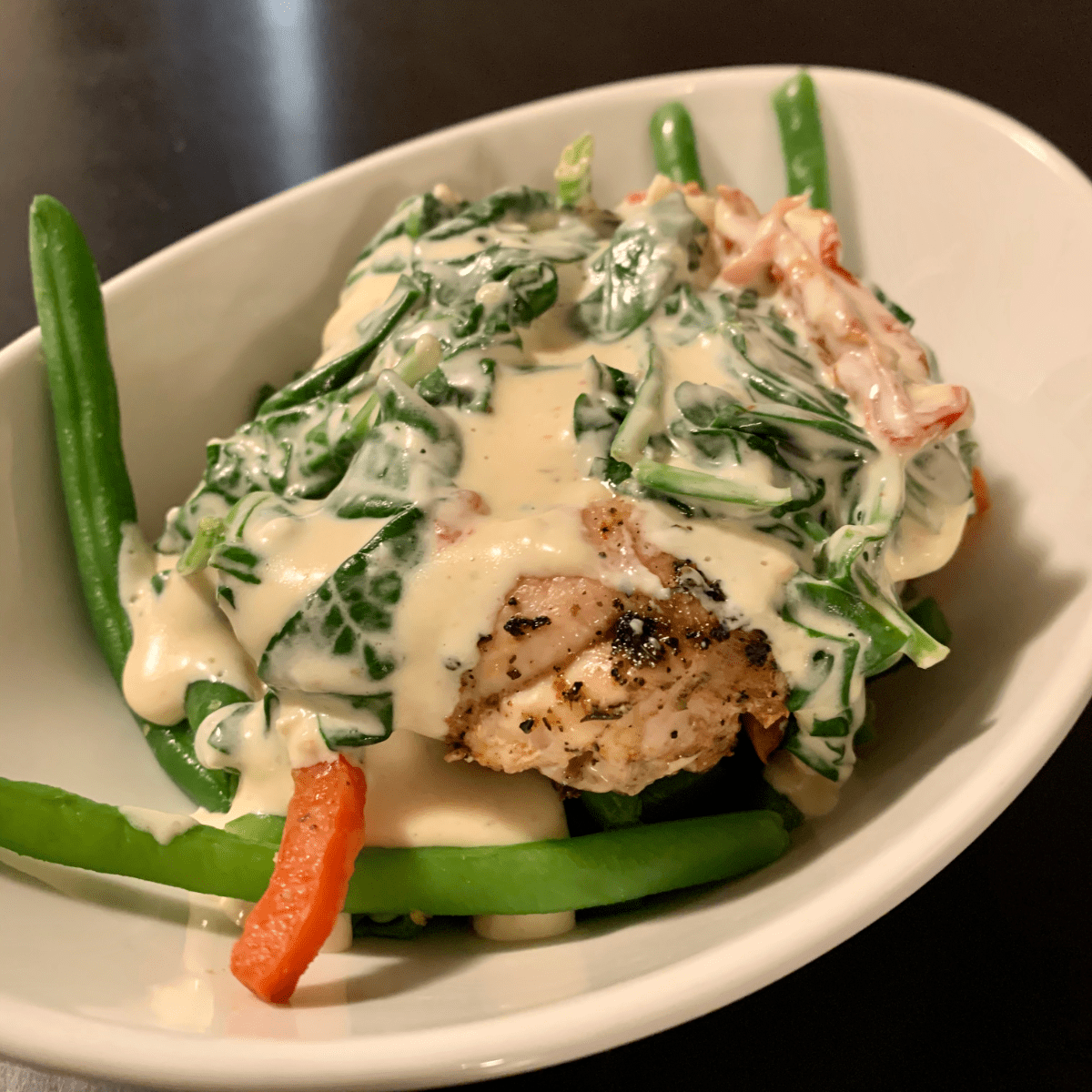 tuscan chicken with green beans serves 1 microwave and oven safe container frozen meals all natural low carb keto soy free gluten free corn free grain free sugar free market wagon