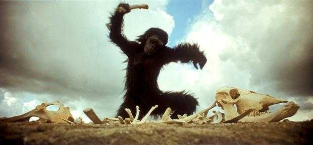 2001 A Space Odyssey, ape playing music
