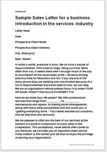 S Pitch And Marketing Letter To Potential Clients