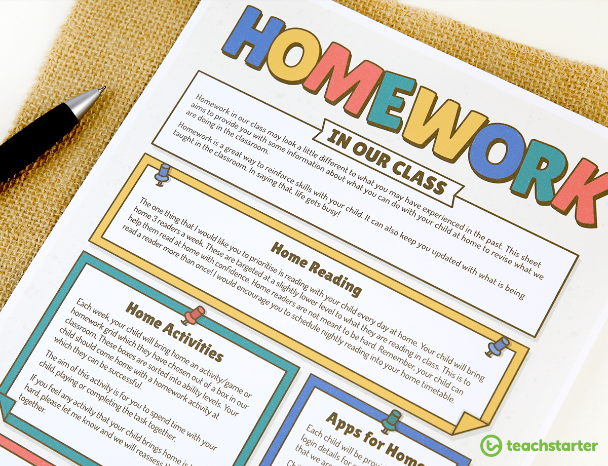 10 Helpful Homework Ideas And Tips For Primary School Teachers