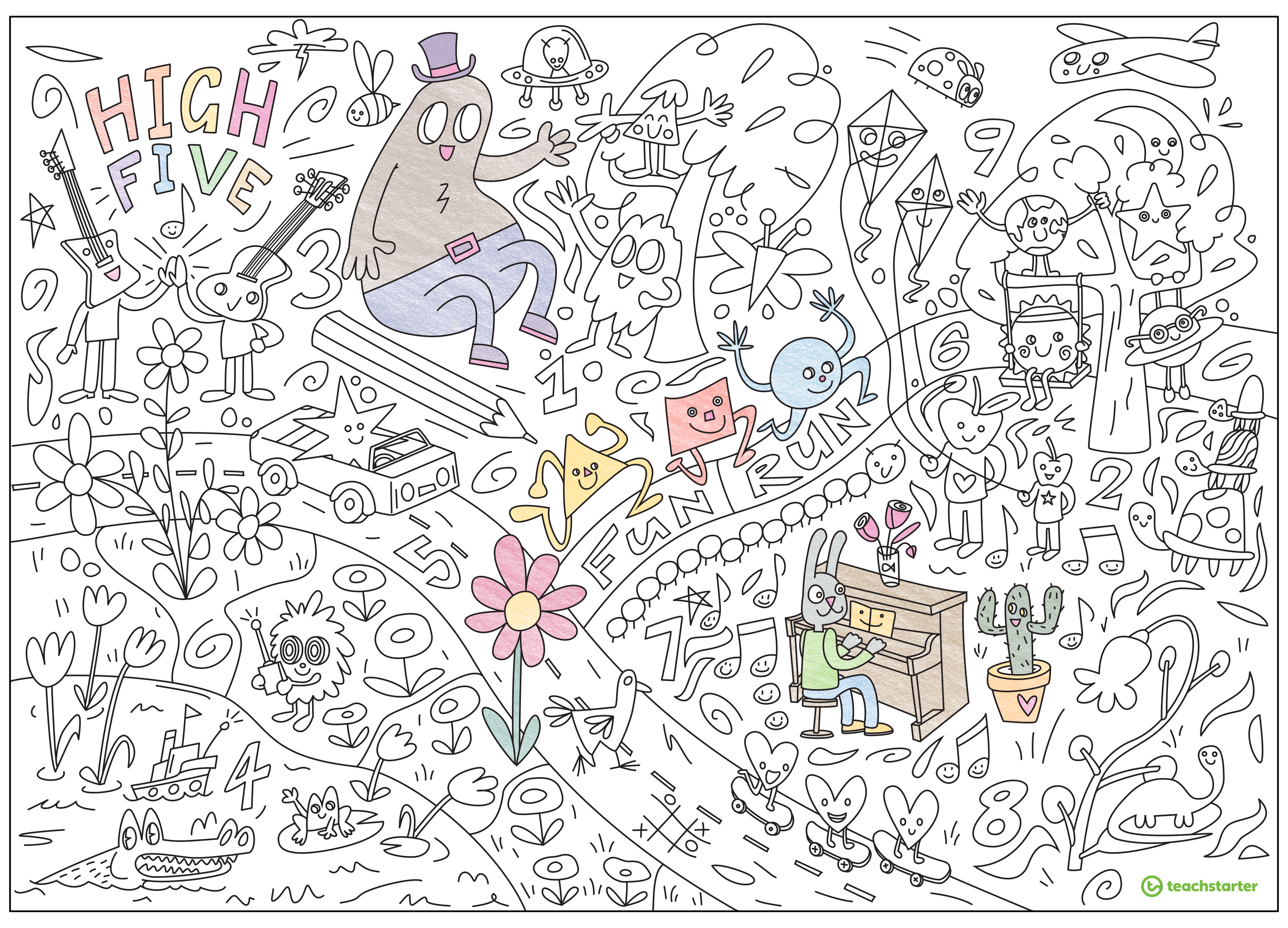 Resource Alert New Giant Printable Colouring Sheet