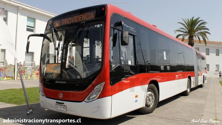 Transantiago | Marcopolo Torino - Mercedes Benz O500UA Euro 6 / LCST80