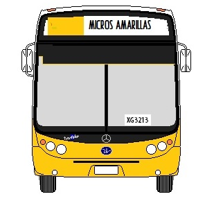 Recorrido 403 Micros Amarillas