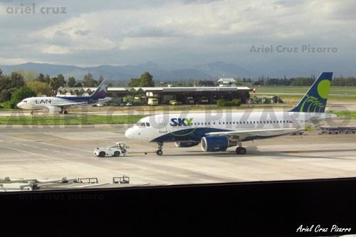 El origen de los aviones de LAN y Sky en vuelos de Chile