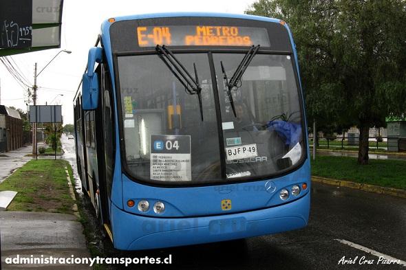 El debut de los buses Busscar en Unitran (Transantiago)