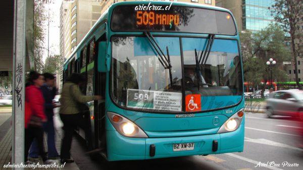 Recorrido 509 Santiago