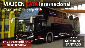 Viaje en Bus Cata Internacional 938, Mendoza a Santiago