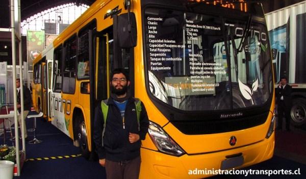 Los buses prototipo de Transantiago presentes en TransUrbano 2016