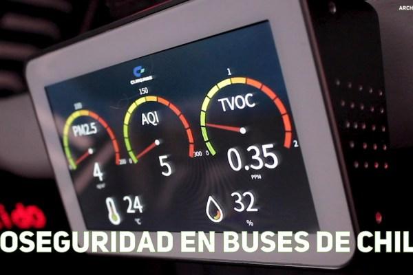 Bioseguridad en los buses de Chile
