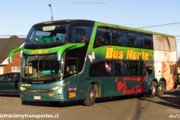 EV: Viaje en Bus Norte 204 (Cama Suite), Puerto Varas a Santiago