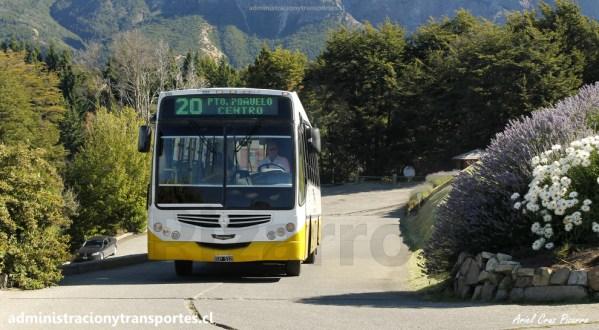 Buses del transporte público de Bariloche (Febrero 2016)