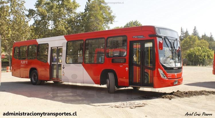 Bus de Transantiago actual en empresa Redbus