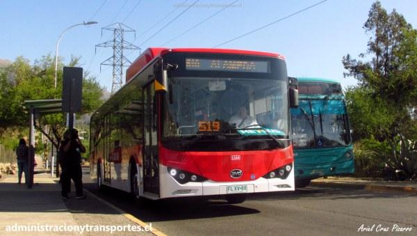 Recorrido 519 Alameda – Av. Grecia (Santiago de Chile)