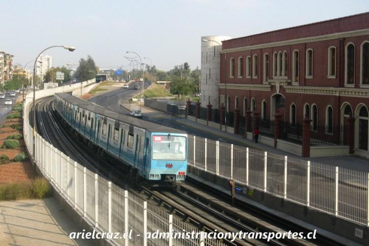 Tren Concarril NS88 de Metro de Santiago, Toesca - Parque O'Higgins, Mayo 2013