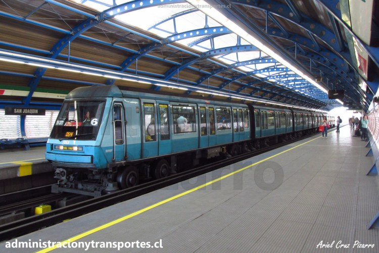Metro de Santiago   Estación San Joaquín (L5) / Alstom NS93 2069