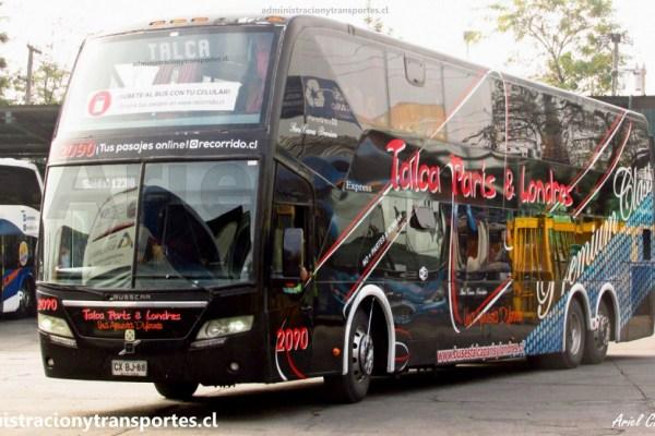 EV: Viaje en Talca París Londres 2090, desde Talca a Santiago