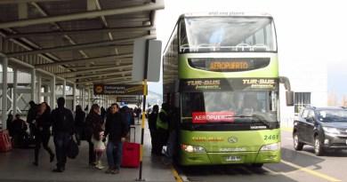 Usando el servicio de Tur Bus Aeropuerto