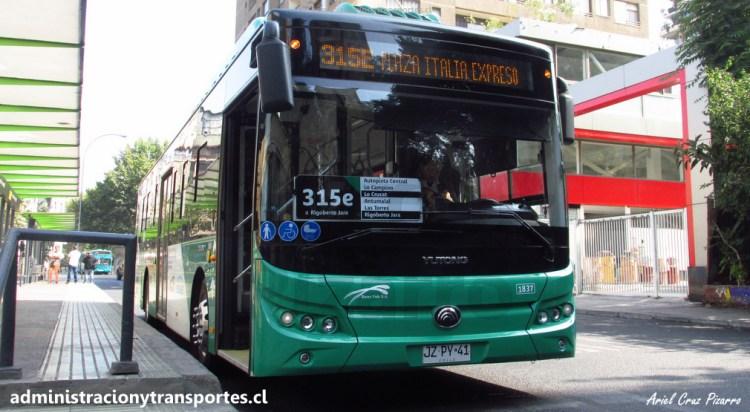 Bus eléctrico Yutong E12 de la empresa Vule