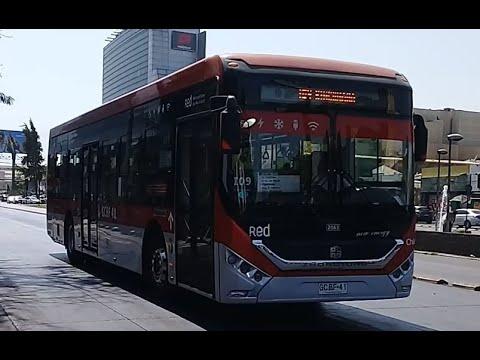 Buses Zhongtong LCK6122 Red Santiago