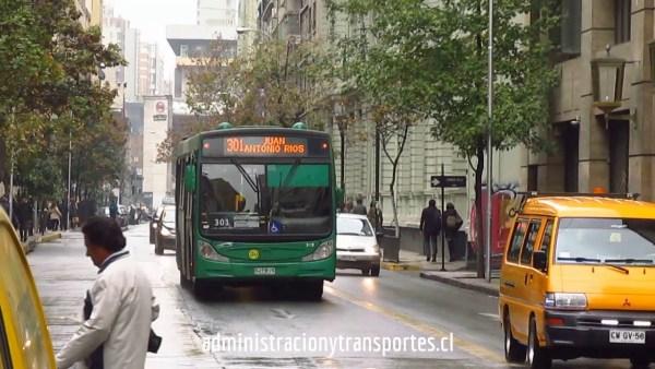 Recorrido 301 Santiago