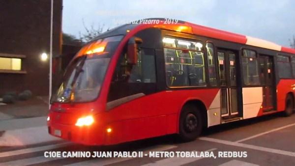 Recorrido C10e Santiago