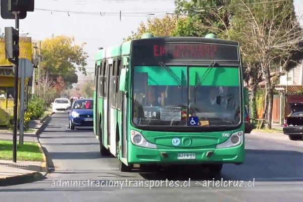 Recorrido E14 Santiago