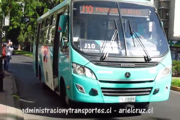 Recorrido J10 Santiago