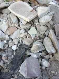 Escombros de viviendas