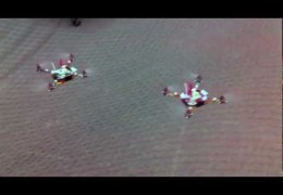 Real Swarm of Flying Nano Quadrotors Doing Flight Tricks