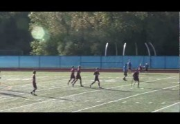 One-legged soccer player amazing goal