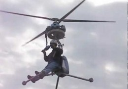 One man helicopter