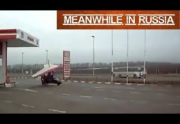 Flying at the Russian gas station