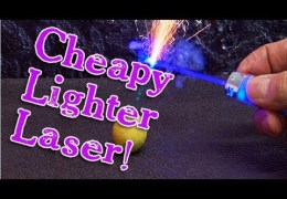 Amazing Lasers! : Cheapy Lighter Laser Burner!
