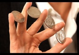 How to Do the 4 Coin Flourish | Coin Tricks