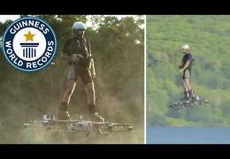 Farthest flight by hoverboard – Guinness World Record 2015