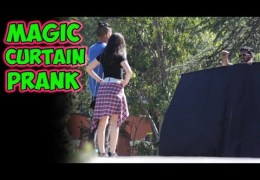 Magic Curtain Prank