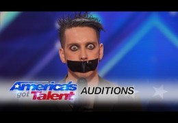 Tape Face: Strange Act Leaves the Audience Speechless