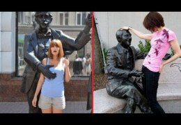 People Having Fun With Statues – Right Moment Pics Compilation