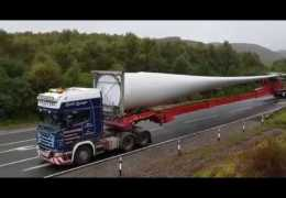 Wind Turbine Blade transportation