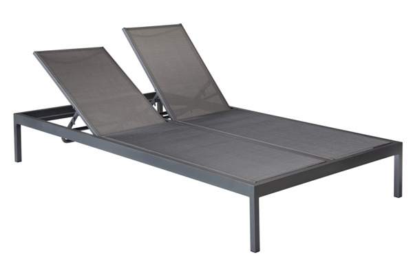 Luxe 51204SL Sling Stacking Double Chaise Lounge