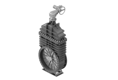Засувка клинова штампозварна з невисувним шпинделем 30c530нж Ду 1000
