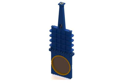 Засувка шиберно-ножова з поліуретановими манжетами і герметичною шиберною камерою Ду 200, Ру 16