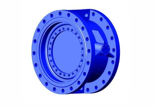 Затвор (клапан) зворотний дисковий з гумовим ущільненням нержавіючий Ду 150 Ру 10