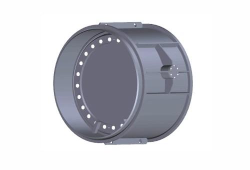 Затвор (клапан) зворотний дисковий з гумовим ущільненням під приварення Ду 150 Ру 10