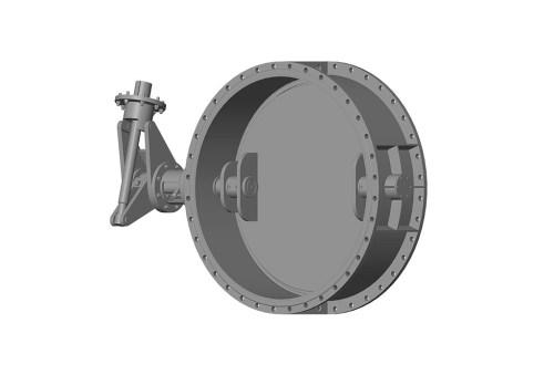 Затвор дисковий з ламінальним ущільненням 3-х ексцентриковий фланцевий 32с908нж Ду 2000 Ру 2