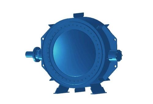 Затвор дисковий з ламінальним ущільненням 3-х ексцентриковий нержавіючий 32нж510нж Ду 1400 Ру 10
