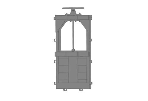 Затвор щитовий для закритих каналів (глибинний) 300x300 ручний